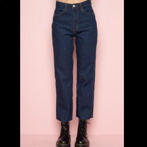 Hazel Dark Wash Wide leg Jean